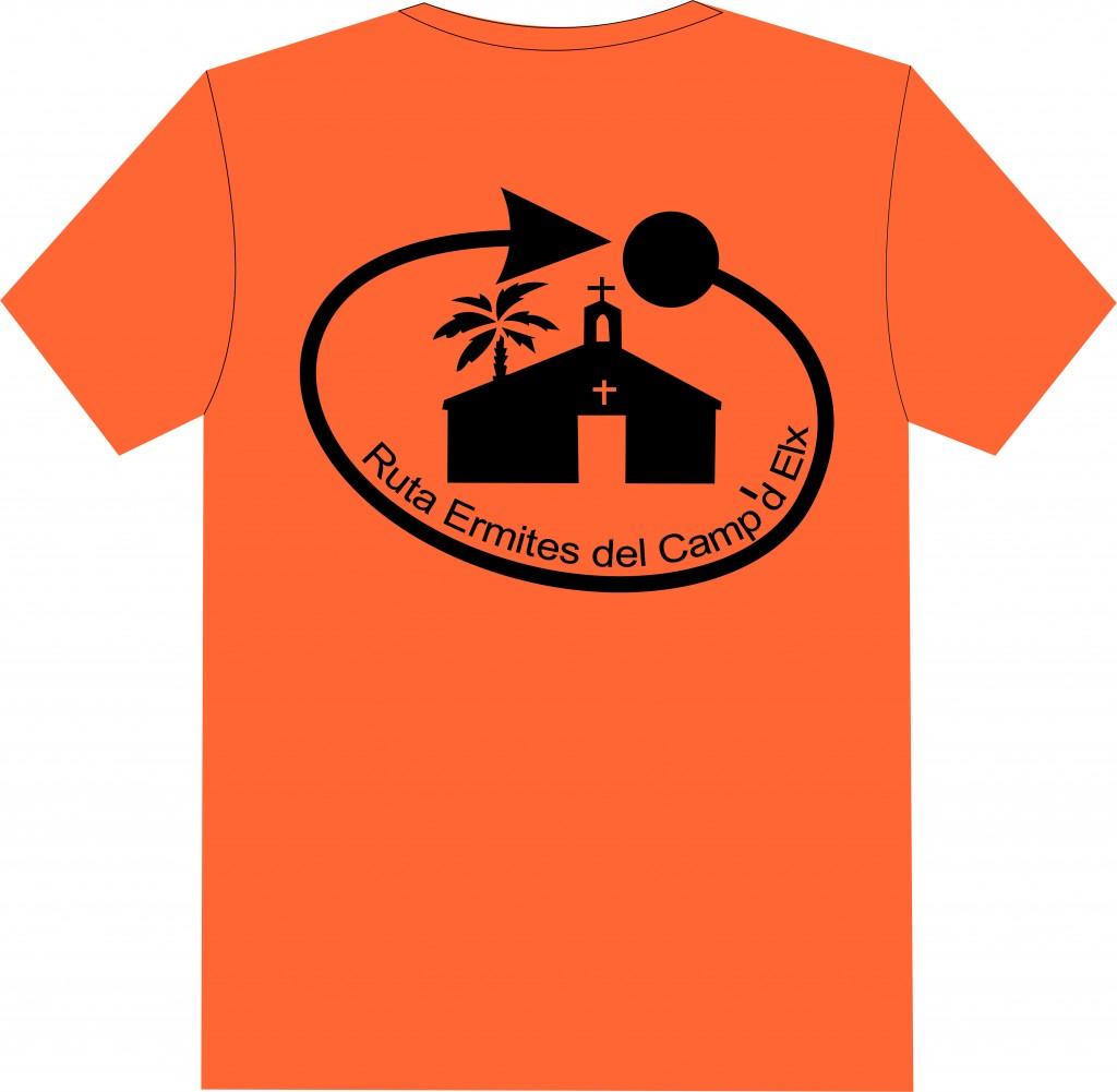 Camiseta Participantes RecE frontal naranja y negro