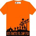 Camiseta Participantes RecE trasera naranja y negro