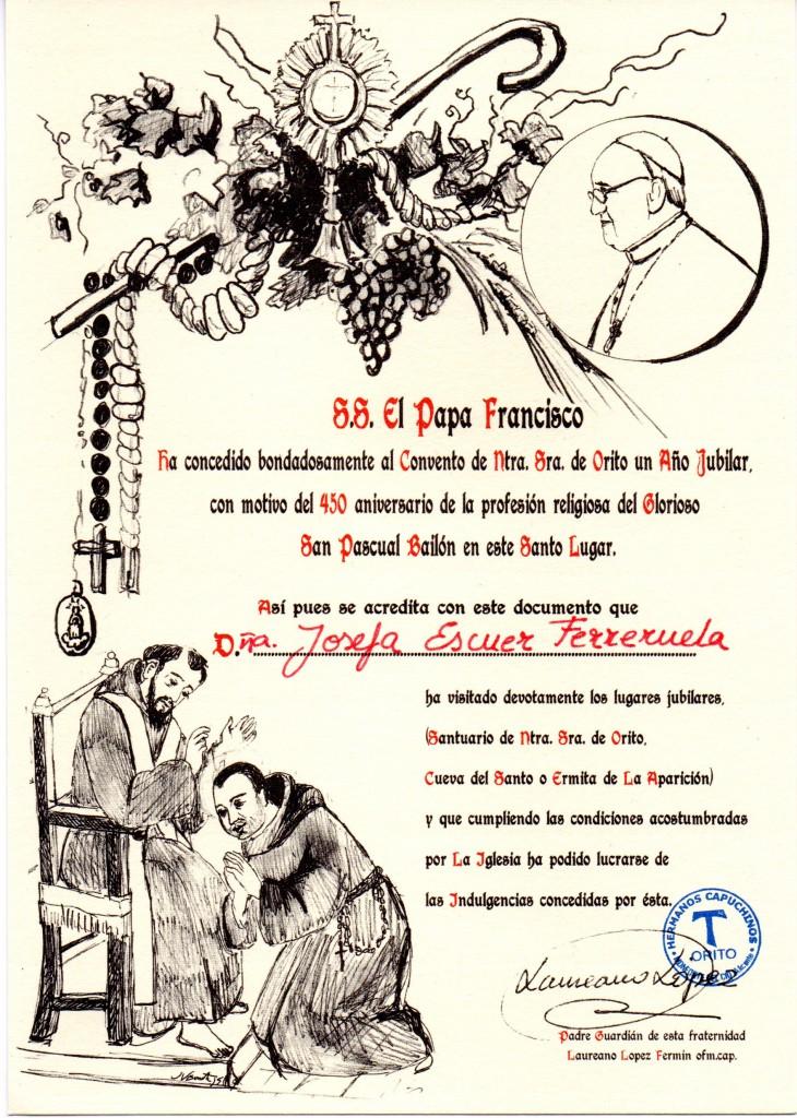 Diploma peregrinación a Orito001