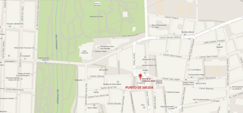 Mapa localización Pza. Sta. Isabel