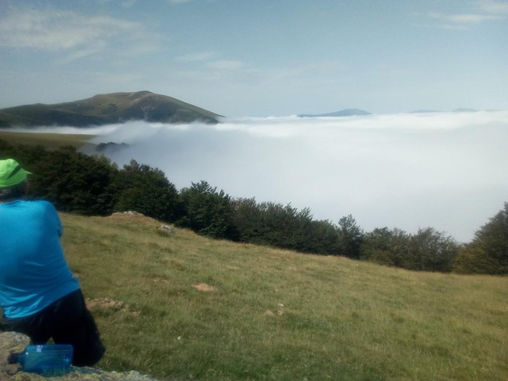 """Precioso el """"mar de nubes"""" visto desde arriba."""